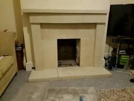 Stone fireplace farmington foxcote