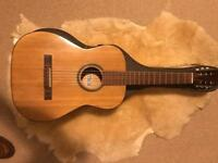 Old American acoustic guitar