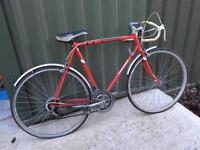 Vintage gents triumph racing bike.