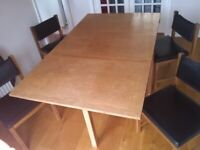 Remploy Mid-Century classic Vintage/Retro drop leaf dinning table and 4 chairs