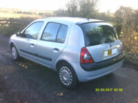 Excellent condition Renault Clio. One lady owner. Must be seen.