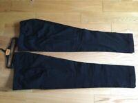 M&S boys black school trousers age 11-12 , 2 pairs