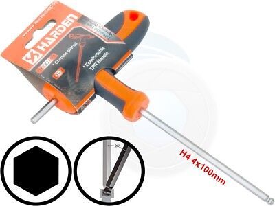 4mm Hex Key Wrench (4mm T-Handle Hexagon Torque 6Point Hex Key CRV TPR Screwdriver Wrench)