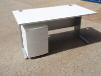 FREE SAME-DAY DELIVERY - 1600mm Wide Straight White Office Desks