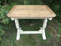 Restored oak side table