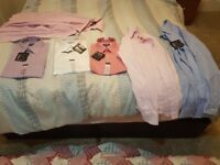 """Six branded new shirts with tags - Kirkland/Taylor and Wright - Collar size 17"""" regular fit"""
