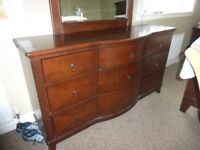 Homelegance Avalon 9 Drawer Triple Dresser with Bow Front. Cabinet / Drawers / Storage