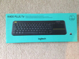 logitech K400 PLUS TV wireless touch keyboard