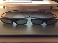 2xPAIRS OF SAMSUNG 3D GLASSES