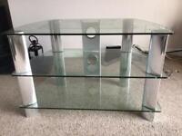 TV Stand Glass & Chrome