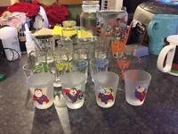 Various shot glasses