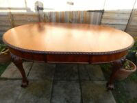 Mahogany Wind Out Extending Table
