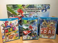 Nintendo WiiU 32gb cw 3 Games VGC BOXED