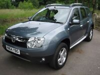 2014/64 Dacia Duster 1.5 dCi 110 Laureate 4X4 Manual 5 door Diesel Estate. Charcoal Grey Metallic,