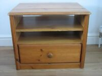 SMALL SOLID PINE TV / DVD UNIT