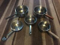 Set of 5 Stainless Steel Pots/Pans