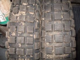 PART WORN REAR TRIALS TYRES 400X18