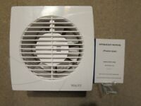 """6"""" ( 150mm ) WALL EXTRACTOR FAN 250 Cubic Mtr Hr , BOXED AND UNUSED, WHITE"""