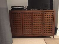 John Lewis lattice style chest / cabinet / tv stand