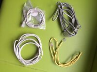 Internet cables_50p for 3 (one NEW item!)