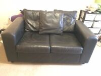 2 Seater Black Sofa for Sale
