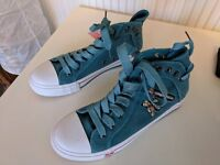 Canvas Sneakers with Skull Zips - Size 40 - BRAND NEW