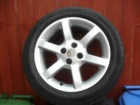 """MGF / TF 15"""" ALLOY WHEELS & TYRES"""
