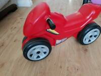 Red motor bike (balance bike)