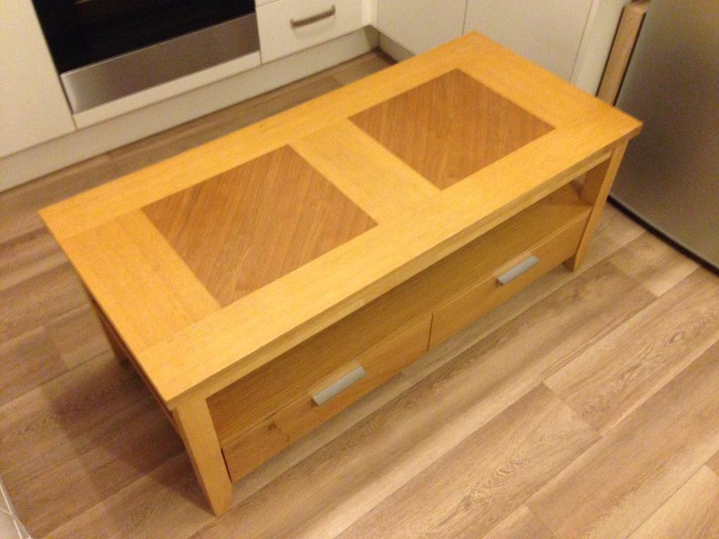 TV unit and 2 nest tables