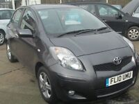 TOYOTA YARIS HATCHBACK MAUAL GREY LOW MILES