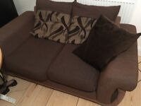 Brown 2 seater sofa (Sofa Project)