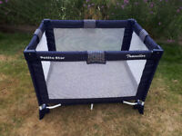 Travel cot - very useful and easy to assemble/fold away