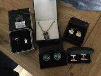 Brand new 4 sets of Cuff links and a chain now reduced
