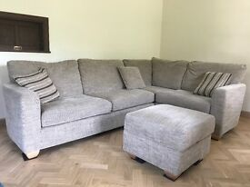 John Lewis Corner Sofa and Storage Footstool