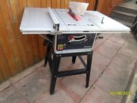 10 inch table saw on its stand