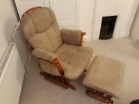 Glider nursing chair and footstool