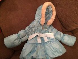 Baby girl mayoral coat age 6-9 months