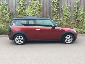 MINI COOPER + CLUBMAN + 2010 + 1.6 TURBO DIESEL+ RED WITH BLACK ROOF