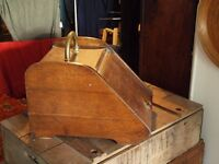 Antique wooden coal box , scuttle