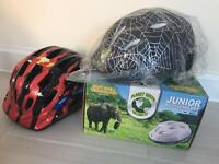 Junior bicycle helmets x 2