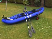 Sevylor KCC335 colorado 2 person inflatable canoe with Sevylor paddles, C-TUG trolley, Sevylor pump