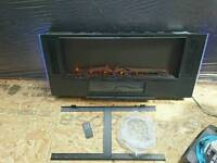 Wall hung fire with led lights