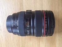 Canon lens EF 24-105mm f/4.0 L IS USM Lens - For any DSLR - As new