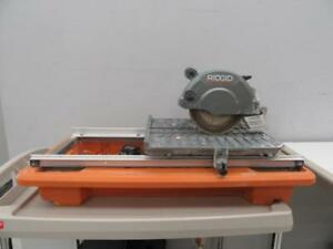 Ridgid 7-inch Portable Wet Tile Saw + Basin - We Buy and Sell Pre-Owned Power Tools - 107903 - JY112405