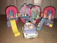 Tatty Teddy Blue Nose & Friends House, Figures and Car