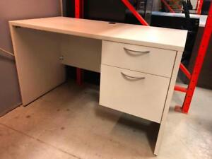 Single Pedestal Desk - White - $249