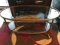 Glass coffee table from Next