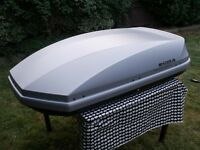 HALFORDS EXODUDS GRAY 470 LITRE 60KG CAPACITY ROOF BOX