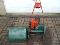 Vintage Suffolk Super Colt Petrol Lawn Mower Grass Box For Spares Or Repairs