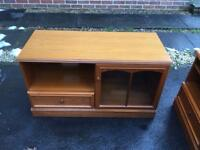 Solid wood stag tv stand